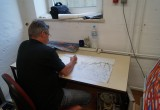 Lothar am Arbeiten